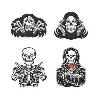 Set von verschiedenen skeletten