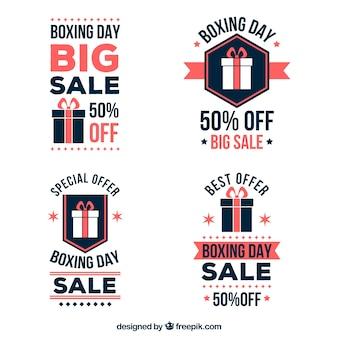 Set von vier boxing day abzeichen