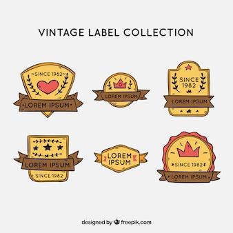 Set von vintage-etiketten