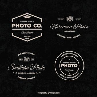 Set von vintage-fotografie logos
