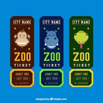 Set von zoo-tickets