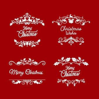 Set weihnachtsausweis-designvektoren