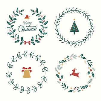 Set weihnachtsausweisvektor