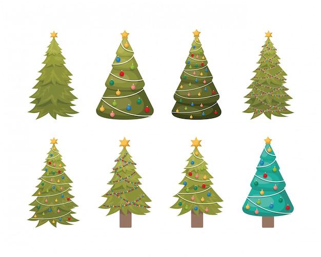 Set weihnachtsbäume