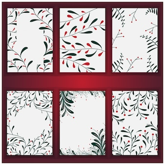 Set weihnachtsbaumhintergrund und -beschaffenheit