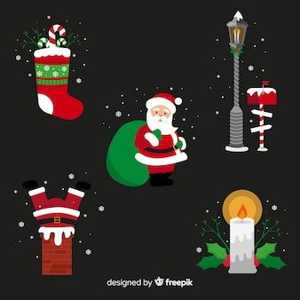 Set weihnachtselemente