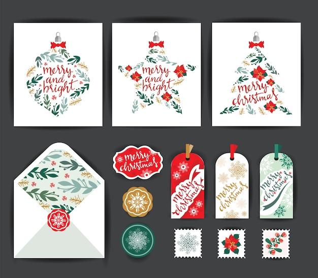 Set weihnachtskarten.