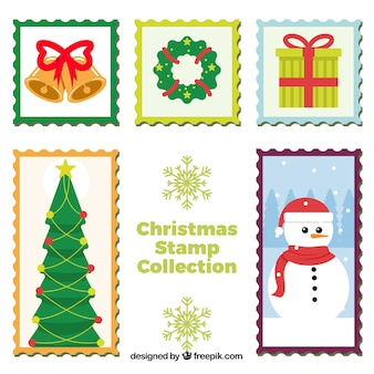 Set weihnachtsmarken
