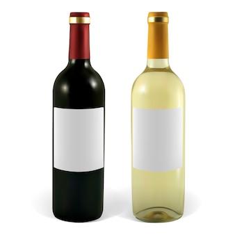 Set weinflaschen. die abbildung enthält verlaufsnetze.