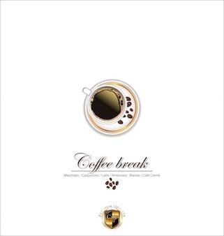 Set weinlese-retro- kaffee-aufkleber