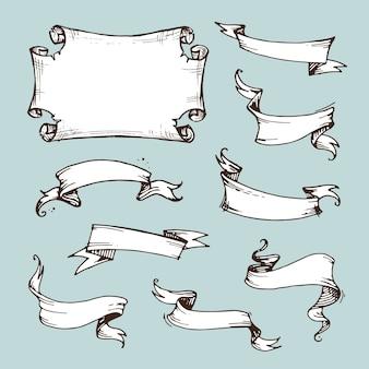 Set weinlesebänder. banner
