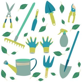 Set werkzeuge gärtner
