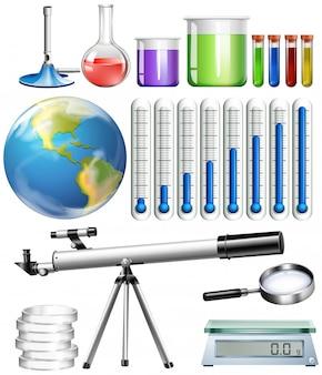 Set wissenschaftliches werkzeug