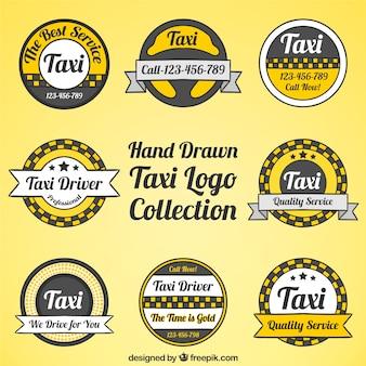 Set zeichen für taxi-service