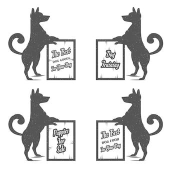 Set zeichen hund