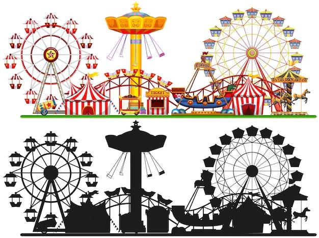 Set zirkus hintergrund