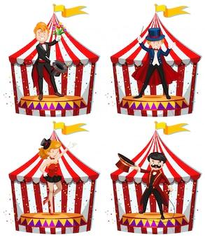 Set zirkusunterhalter