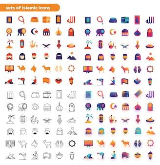 Sets von islamischen icons