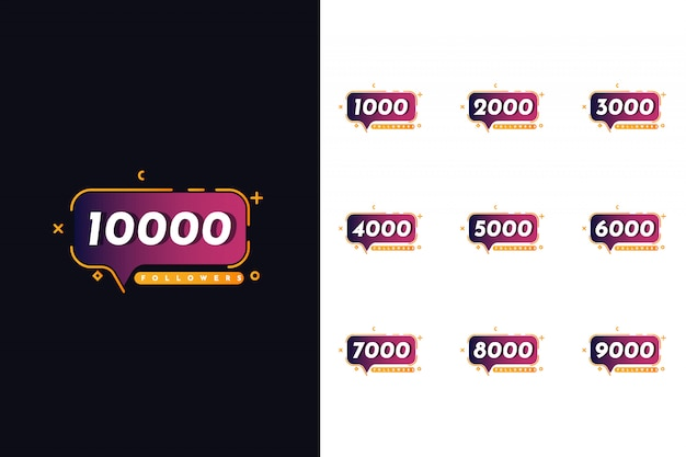 Setze 1000 bis 10000 follower
