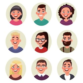 Setze avatare leute. illustration