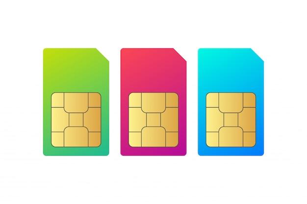 Setze den sim-karten-chip