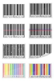 Setze icons barcode