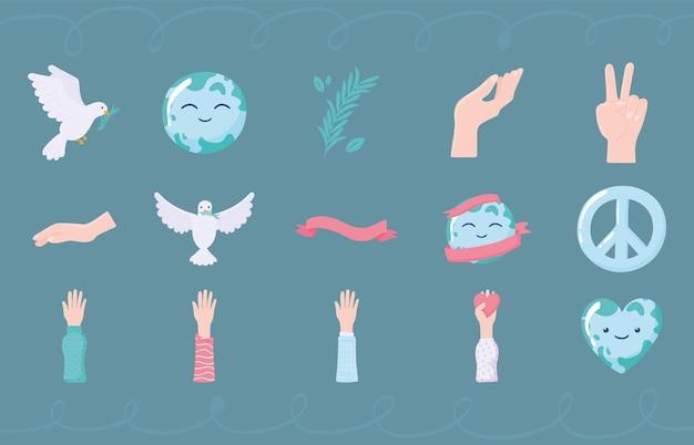 Setze icons frieden