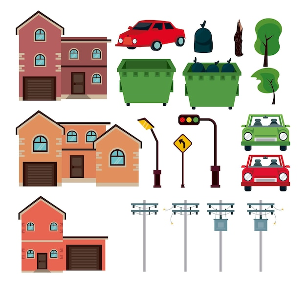 Setze urbane elemente