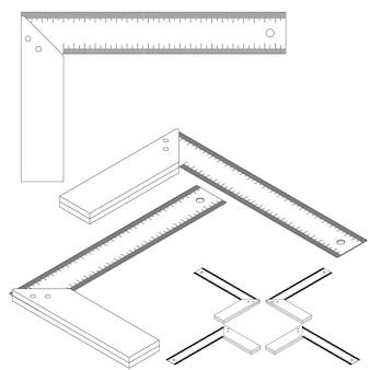 Setze werkzeuge isometrisch auf weißem hintergrund