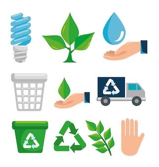 Setzen sie den umweltschutz auf umweltschutz