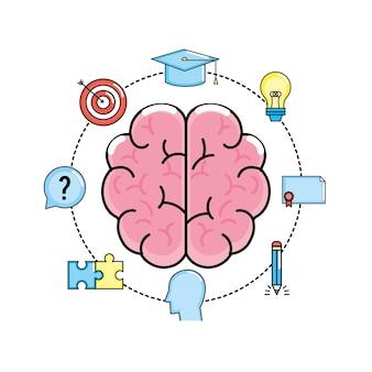 Setzen sie kreativen prozess und brainstorming-erfindung