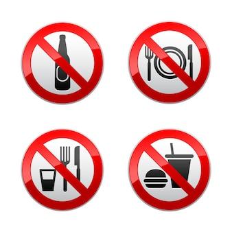 Setzen sie verbotene zeichen - café