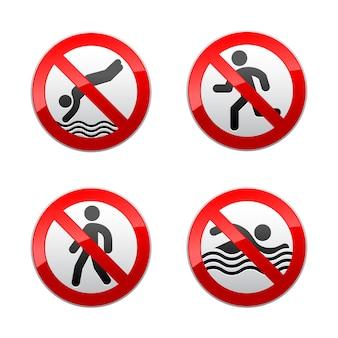 Setzen sie verbotene zeichen - sport