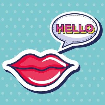 Sexi frau lippen symbol