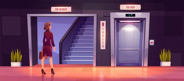 Sexismus und diskriminierung von frauen im karrierewachstum.