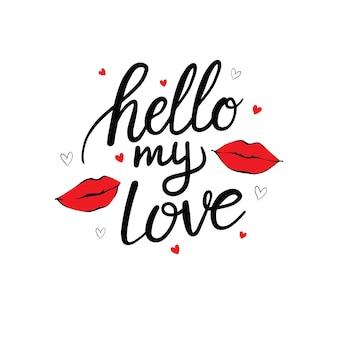Sexy lippen küssen isolierte ikone mit der inschrift für valentinstag. illustration.
