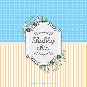 Shabby chic karte hintergrund