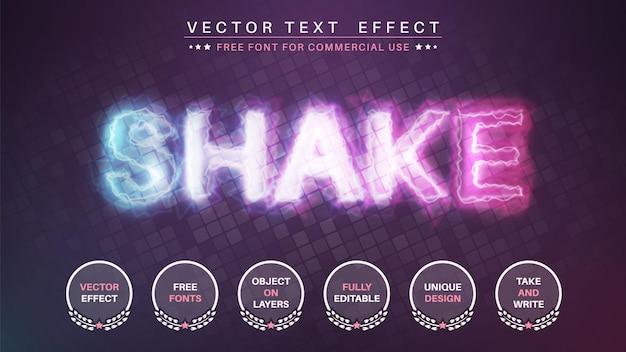 Shake lightning bearbeiten den texteffekt-schriftstil