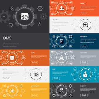 Sharing economy infografik-vorlagenliniendesign mit coworking-carsharing-crowdfunding-symbolen