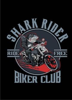 Shark biker