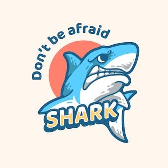 Shark illustration moderne maskottchen vintage-design-charakter