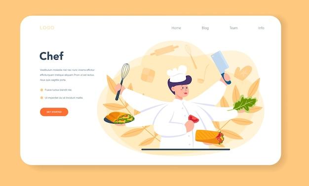 Shawarma street food web banner oder landing page Premium Vektoren