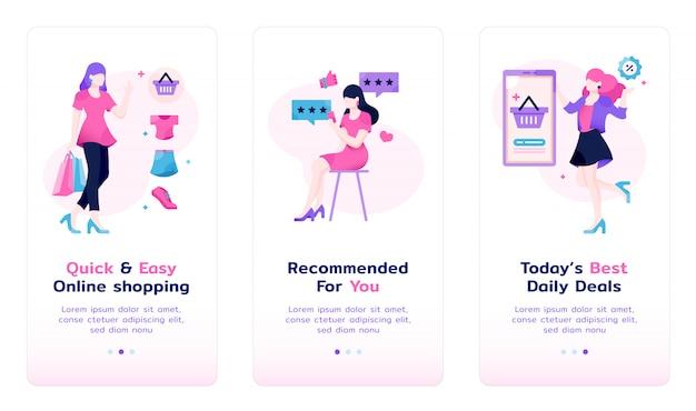Sheconomy app-einführungsbildschirm