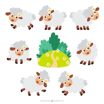 Sheep cartoons packen