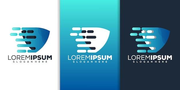 Shield tech-logo-design