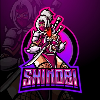 Shinobi esport maskottchen logo design