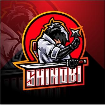 Shinobi esport maskottchen logo