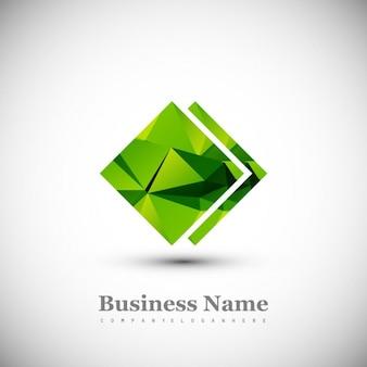 Shiny polygon logo