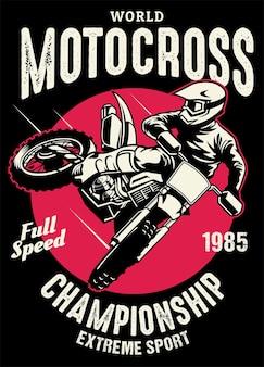 Shirt-design der motocross-meisterschaft