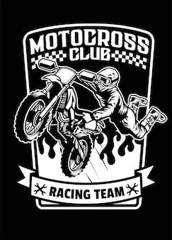Shirt-design von racer- oder motocross-sport
